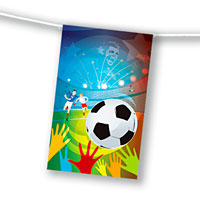 Zoom : Soccer Flameproof paper flag bunting UEFA Euro 2016