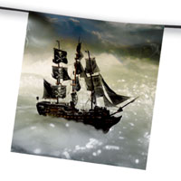 Zoom : Pirate paper flag bunting