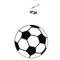 Zoom : Flameproof hanging decoration Soccer balloons UEFA Euro 2020