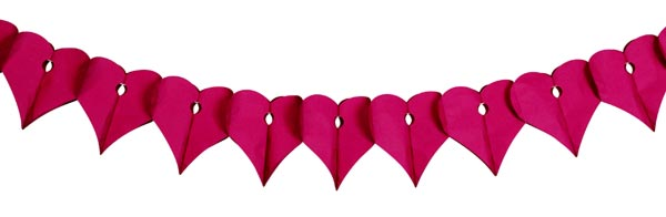 Guirlande Coeur Papier Ignifuge Flameproof Paper Heart Garland